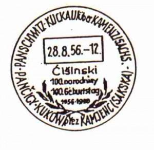 1956T: Cisinski100.narodniny100.Geburtstag1856-1956B: LorbeerV: H, 19.8.-31.12.1956